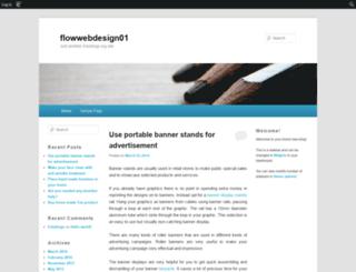 flowwebdesign01.edublogs.org screenshot