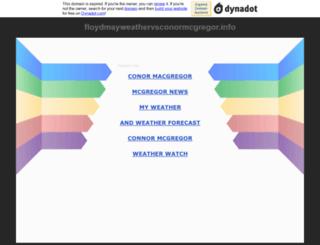 floydmayweathervsconormcgregor.info screenshot