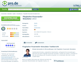 flughafen-feuerwehr-simulator.pro.de screenshot