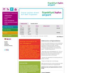 flughafen-hahn.de screenshot