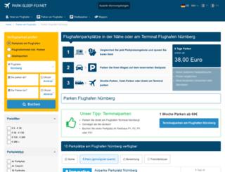 flughafen-nuernberg-parken.de screenshot