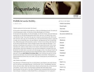 flugunfaehig.wordpress.com screenshot
