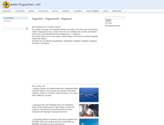 flugzeiten.net screenshot