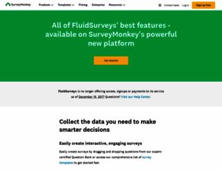 fluidsurveys.com screenshot