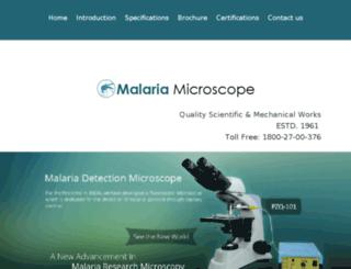 fluorescentmalariamicroscope.malariamicroscope.com screenshot