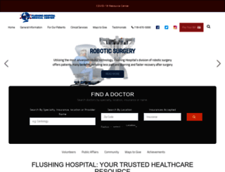 flushinghospital.org screenshot