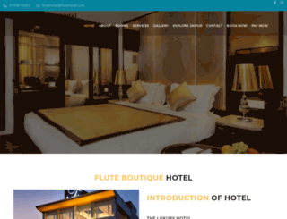 flutehotel.com screenshot