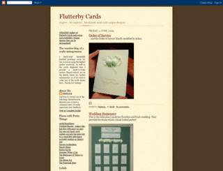 flutterby-cards.blogspot.com screenshot