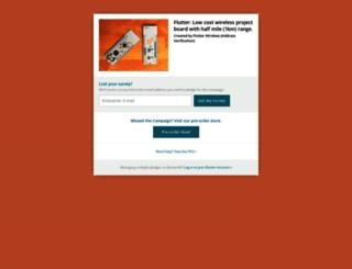 flutterwireless.backerkit.com screenshot