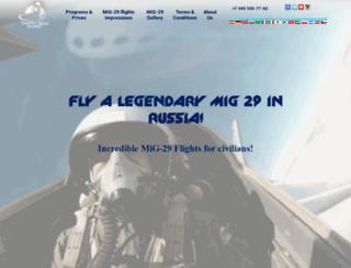 fly-mig29.com screenshot