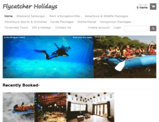 flycatcherholidays.com screenshot