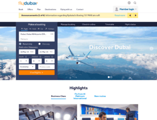 flydubai.com screenshot