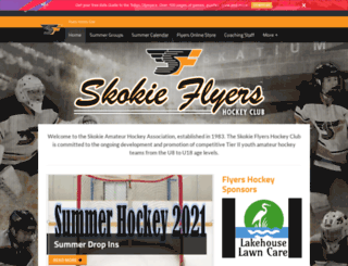 flyershockey.pucksystems.com screenshot