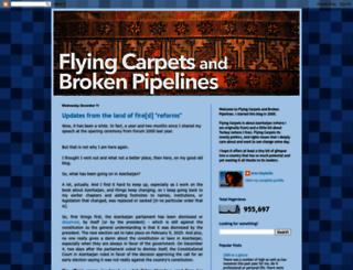 flyingcarpetsandbrokenpipelines.blogspot.com screenshot
