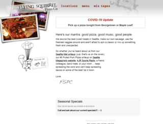 flyingsquirrelpizza.com screenshot