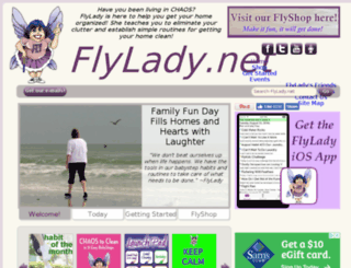 flylady.com screenshot