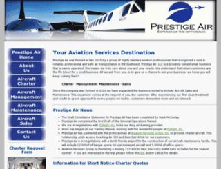 flyprestigeair.com screenshot