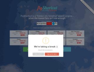 flyshortcut.com screenshot