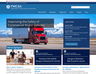 fmcsa.dot.gov screenshot