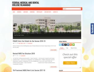fmdcislamabad.blogspot.com screenshot