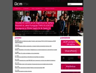 fmk.ucm.sk screenshot