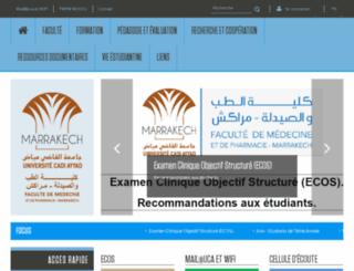 fmpm.ucam.ac.ma screenshot