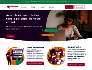 fnac.maxicours.com screenshot