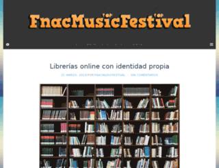 fnacmusicfestival.es screenshot