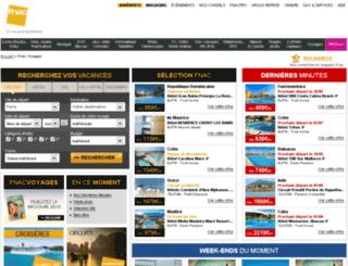 fnacvoyages.com screenshot