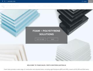 foamsales.com.au screenshot