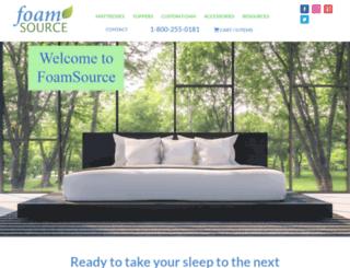 foamsource.com screenshot