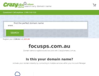 focusps.com.au screenshot