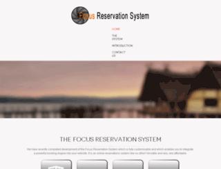 focusreservationsystem.com screenshot