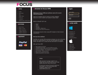 focusvpn.com screenshot