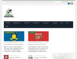 fodbold-transfers.dk screenshot