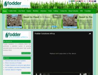 foddersolutionsafrica.com screenshot