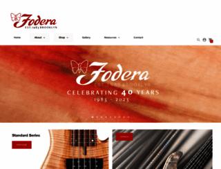 fodera.com screenshot