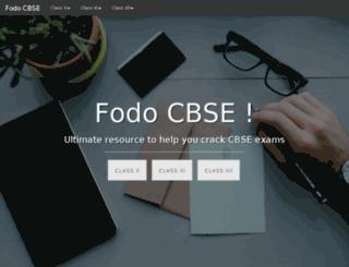fodocbse.com screenshot