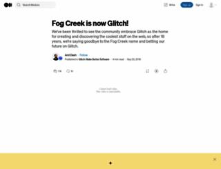 fogcreek.com screenshot