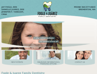 foglefamilydentistry.com screenshot