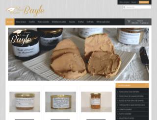 foies-gras-bayle.com screenshot