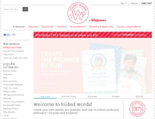 foldedwords.com screenshot