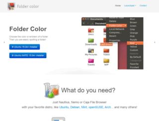 foldercolor.tuxfamily.org screenshot
