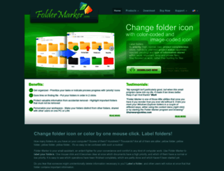 foldermarker.com screenshot