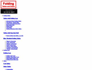 foldingtables.net.au screenshot