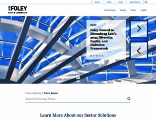 foley.com screenshot