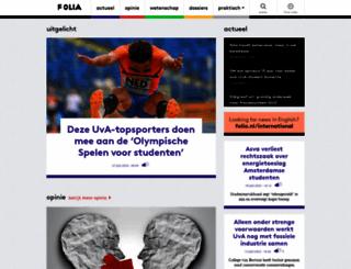 folia.nl screenshot