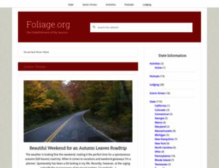 foliage.org screenshot