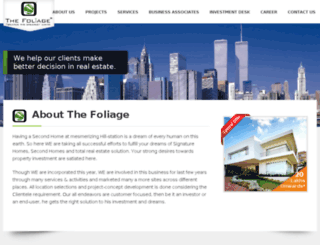 foliageinfra.com screenshot