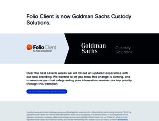 folioclient.com screenshot